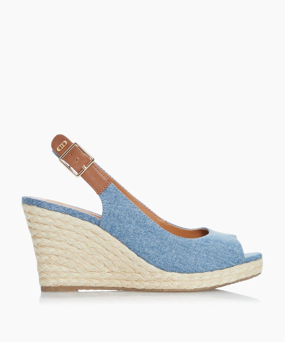 Espadrille Wedge Heel Sandals