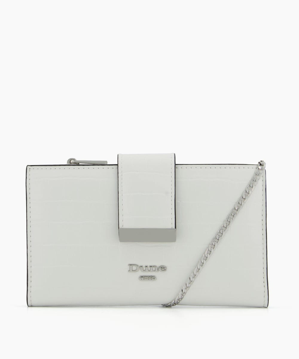 Purse On Chain With Removable Card Holder