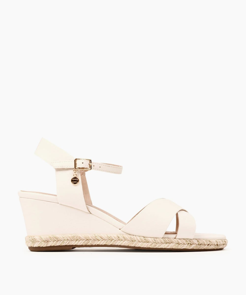 Espadrille Trim Wedge Heel Sandals