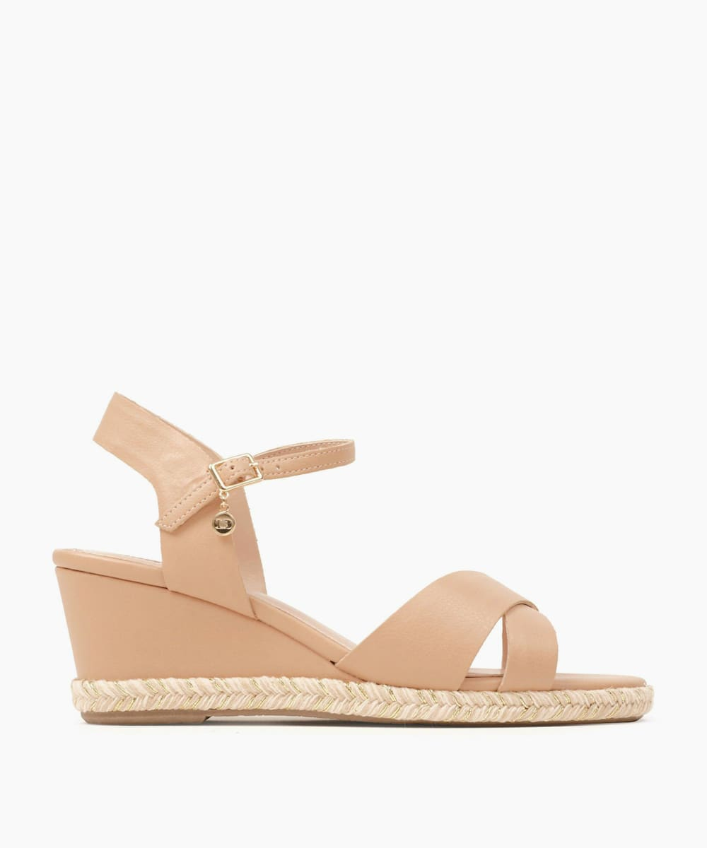 Espadrille Trim Wedge Heel Sandals