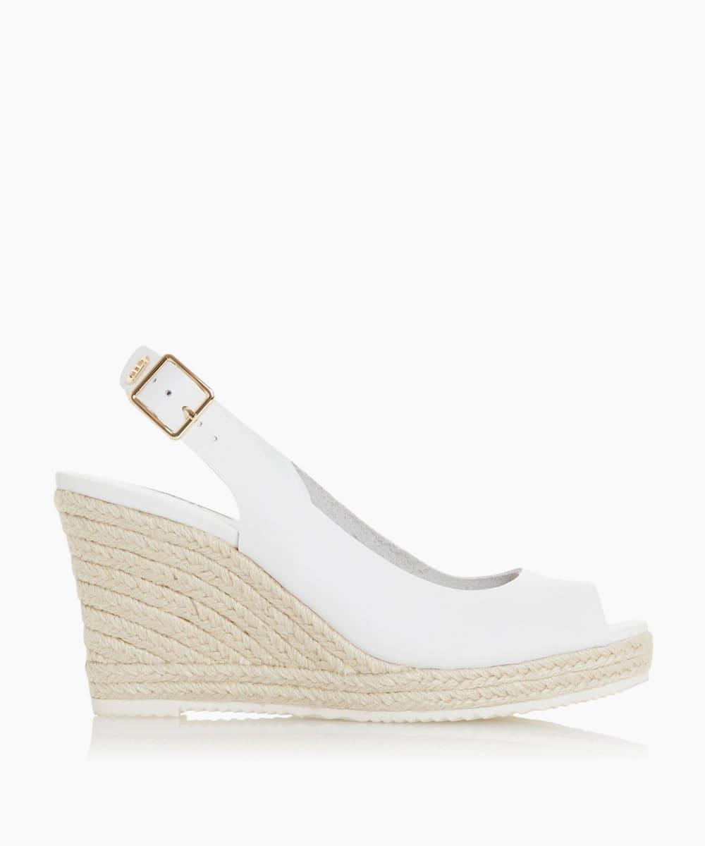 Slingback Espadrille Wedge Heel Sandals