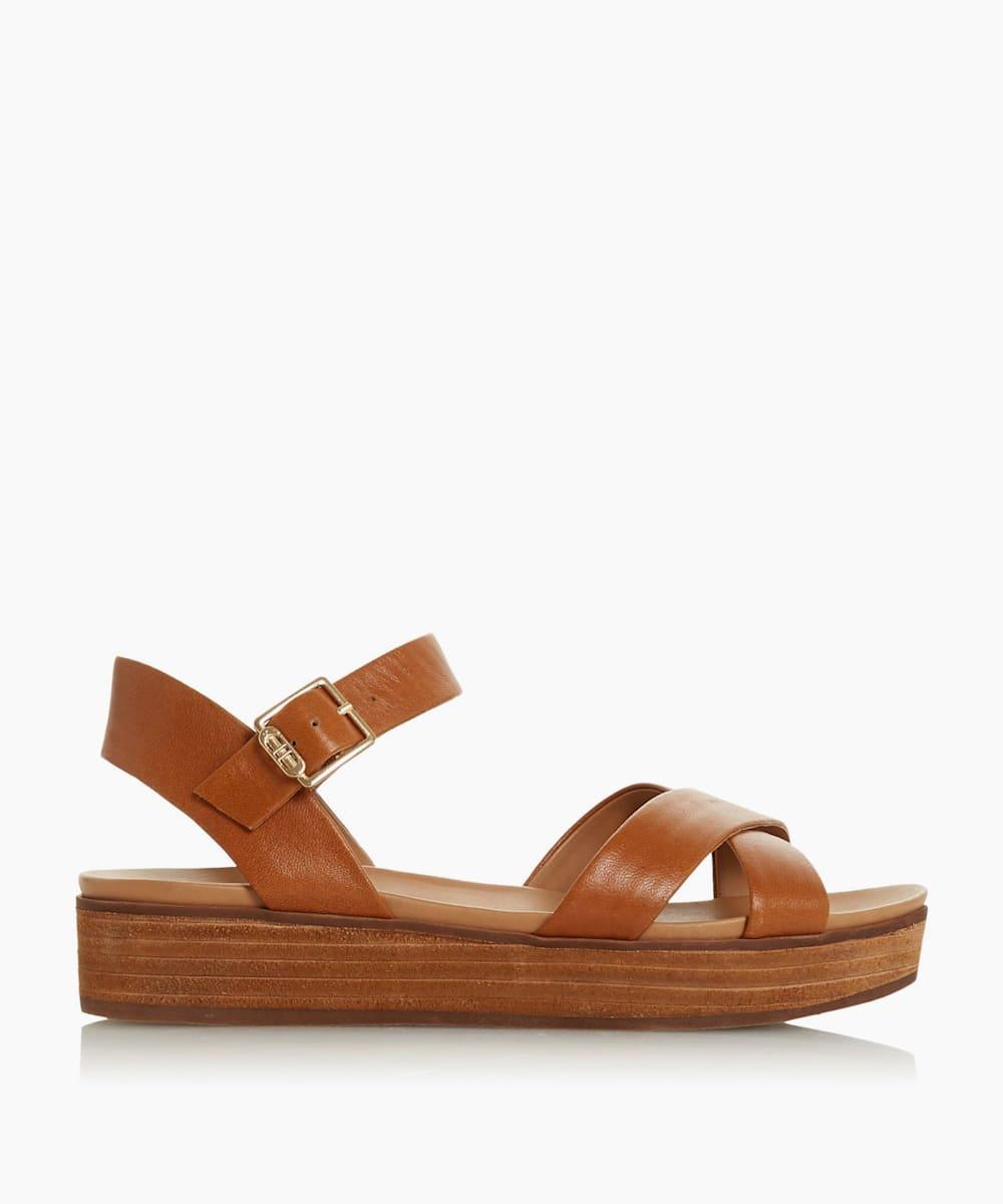 Cross Strap Flatform Sandals