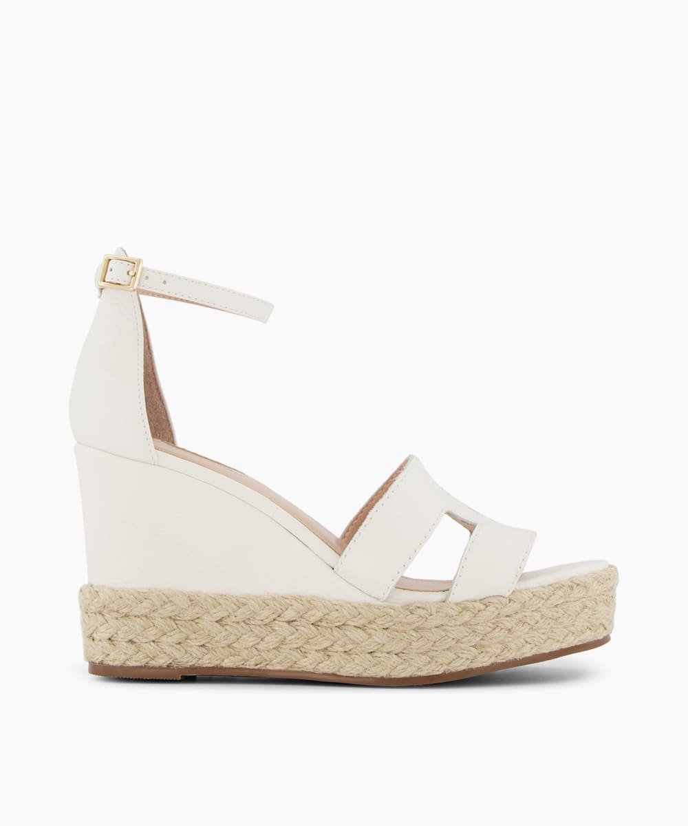 Cut Out Espadrille Wedges