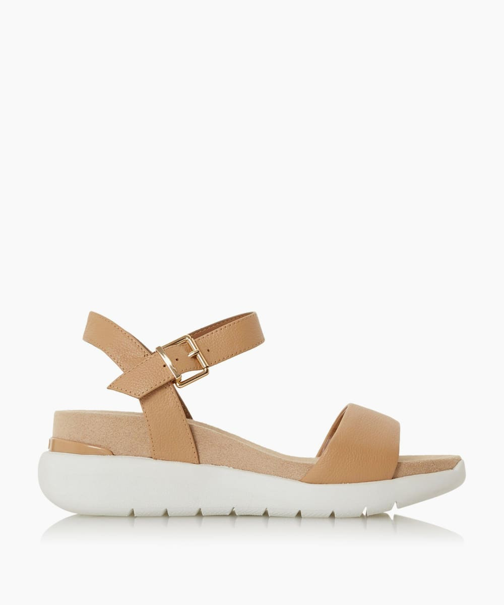 White Outsole Comfort Flatform Sandals