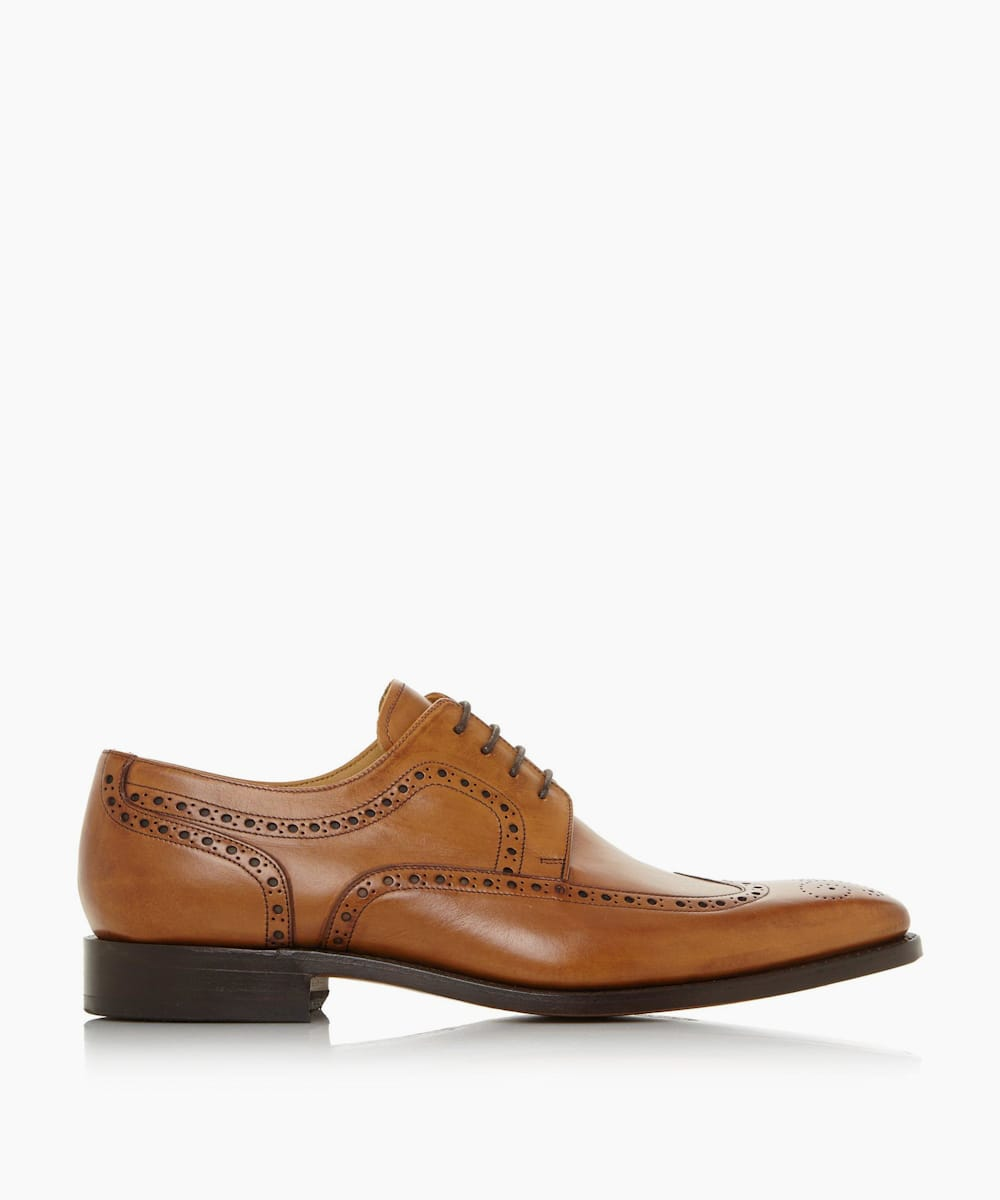 Wingtip Brogue Lace-Up Shoes