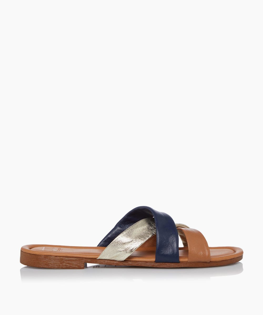 Colour Block Flat Sandals