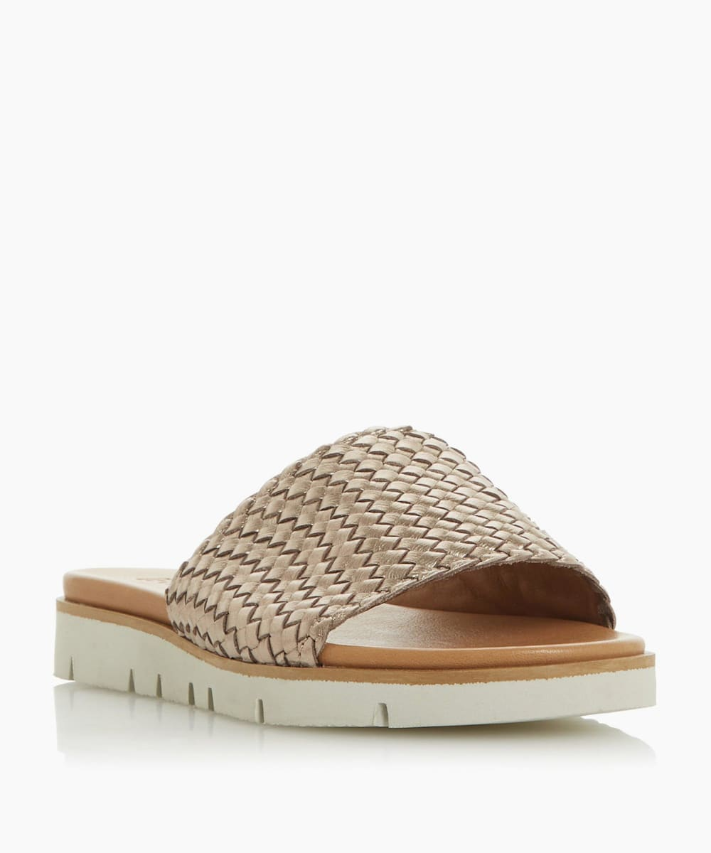 Woven Contrast Sole Slider