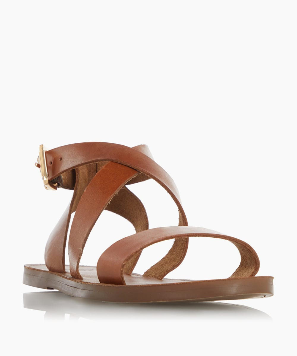 Wrap Strap Flat Sandals