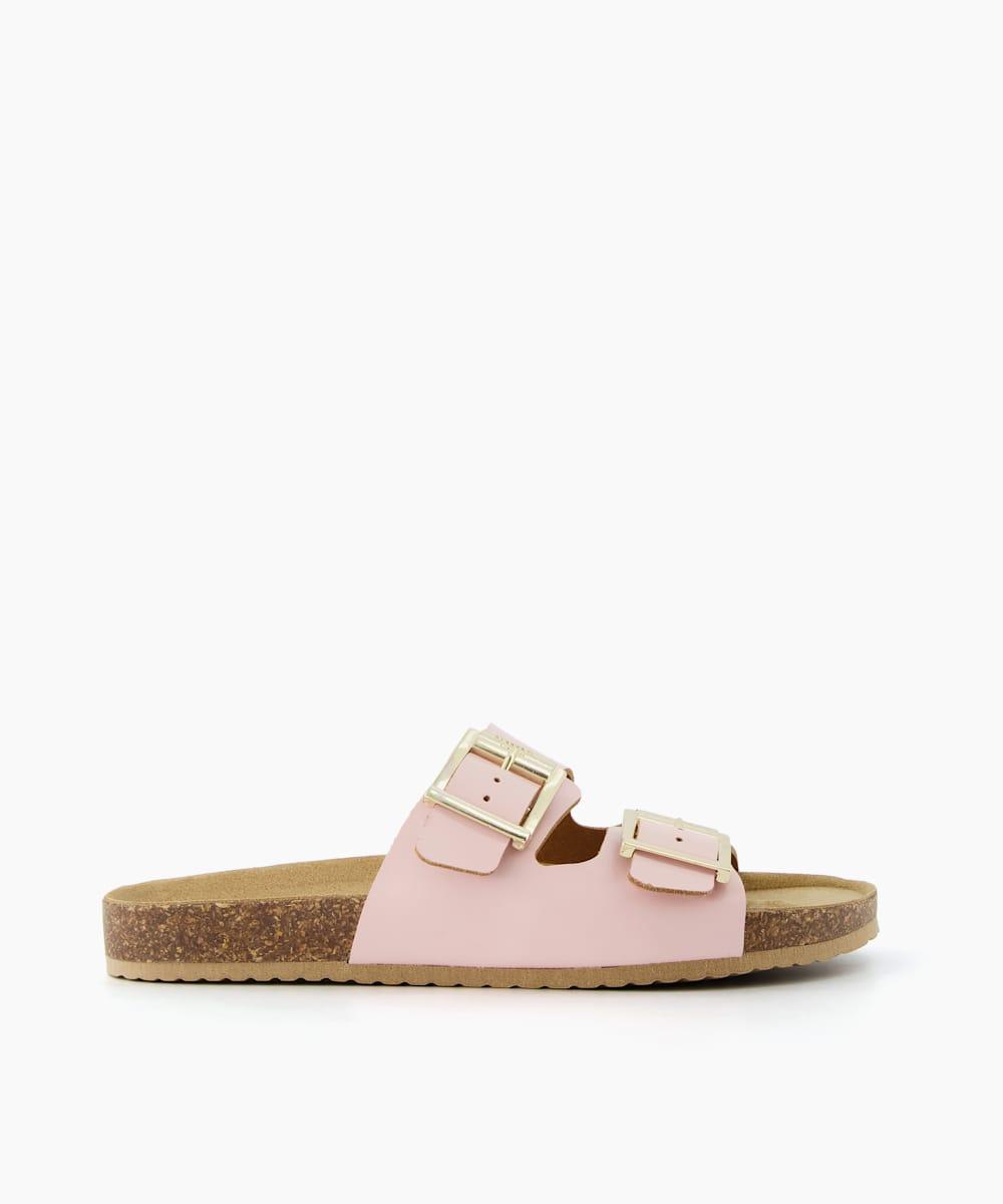 Double Strap Buckle Sandals