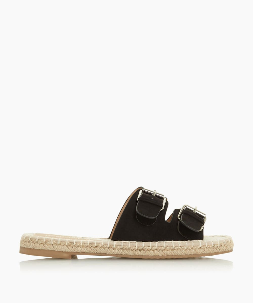 Double Buckle Espadrille Sandals