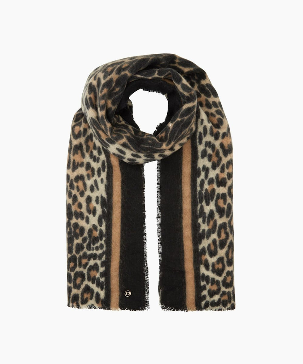 Contrast Patterned Scarf
