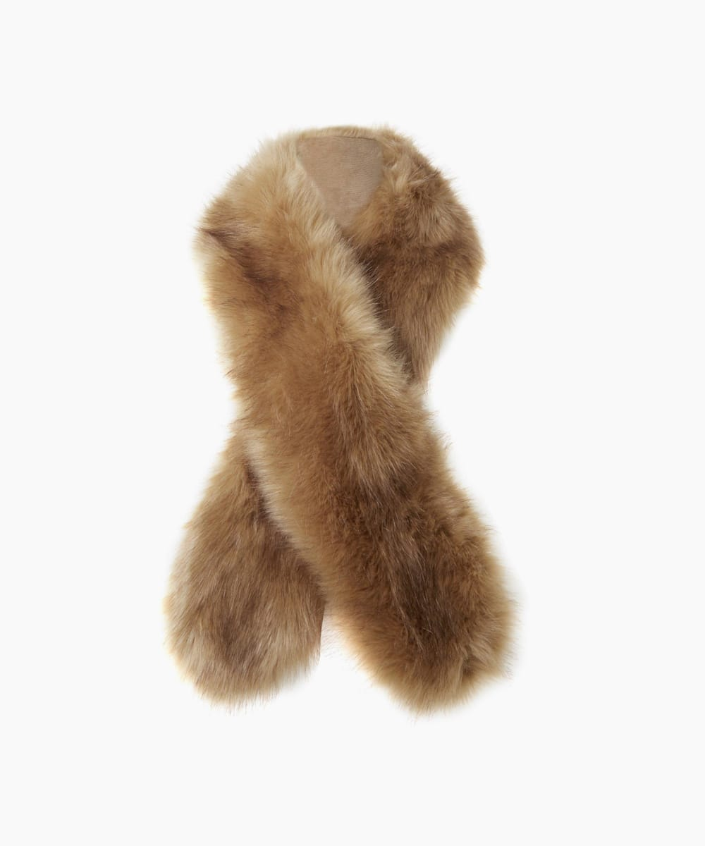 Faux-Fur Slim Scarf