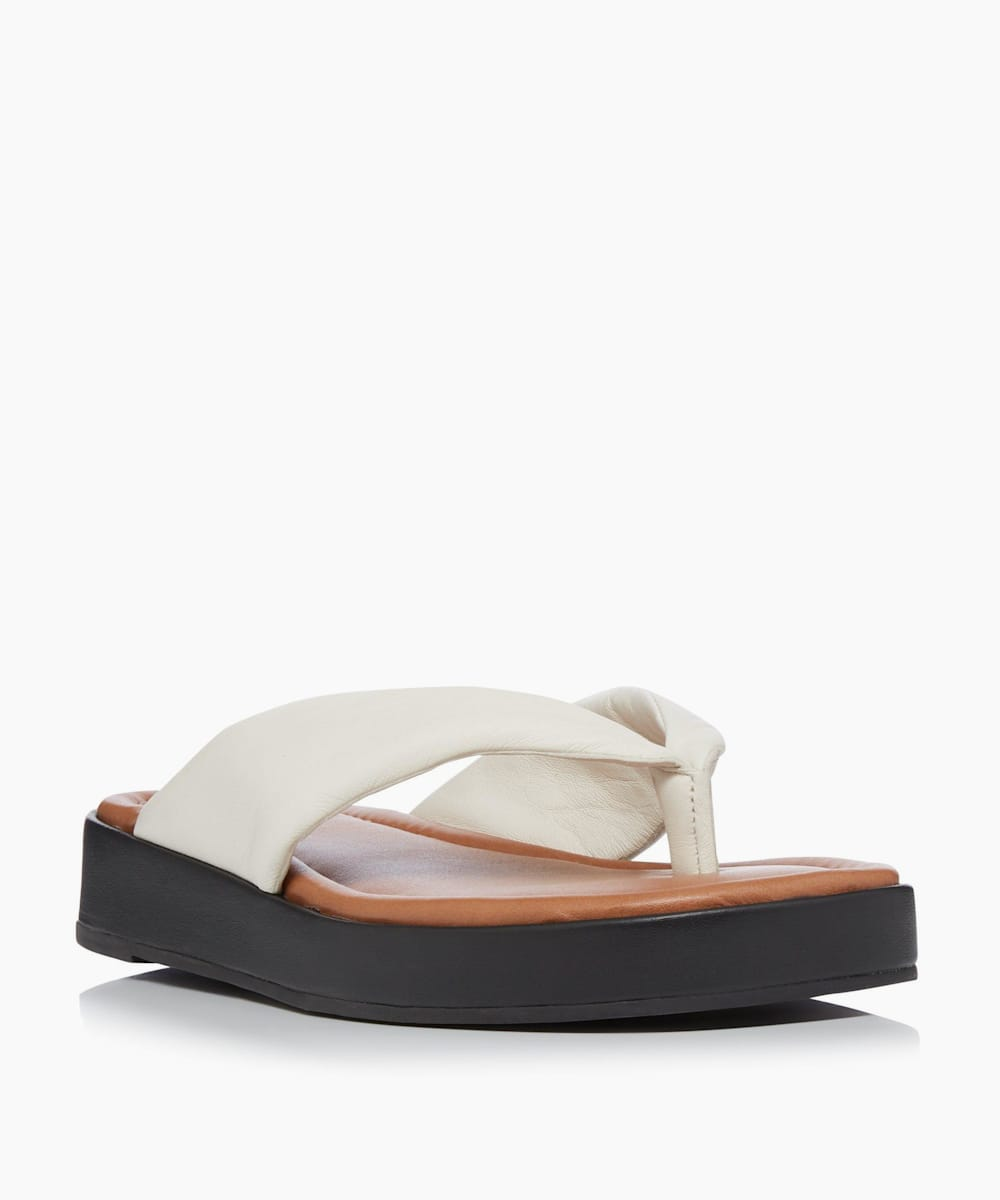 Padded Toe Post Flatform Sandals