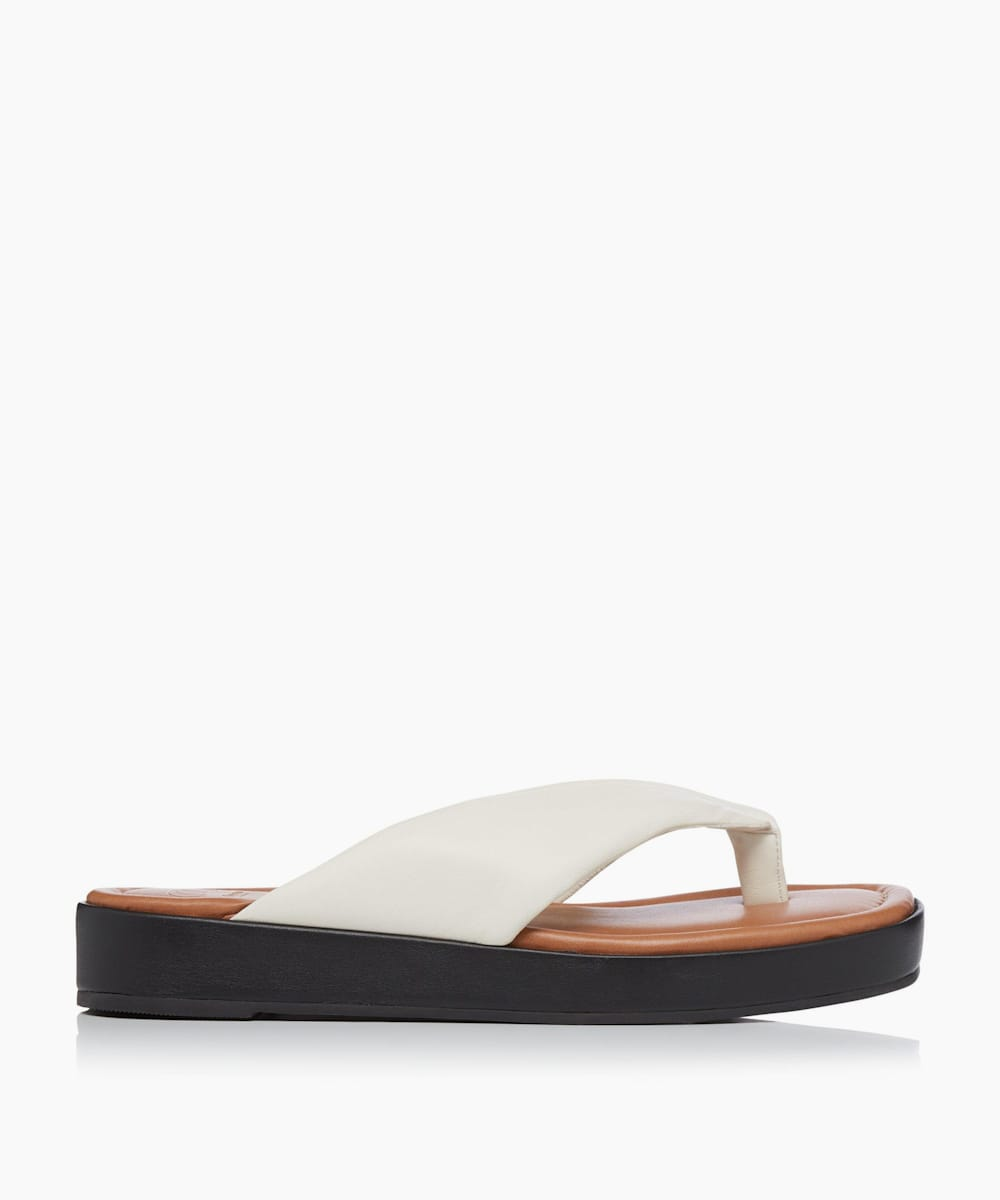 Padded Toe Post Flatform Sandals
