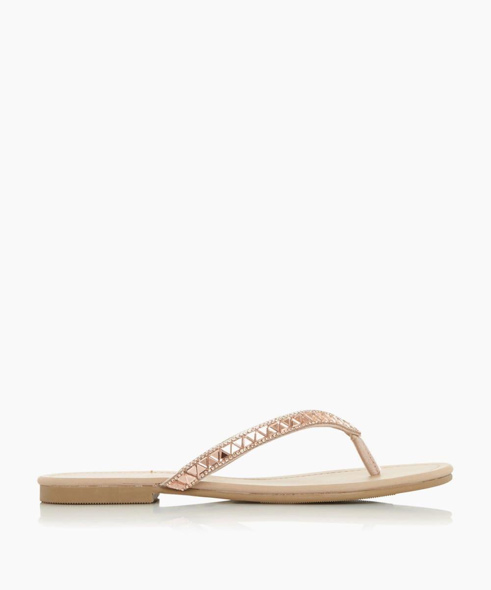 Diamante Trim Sandals