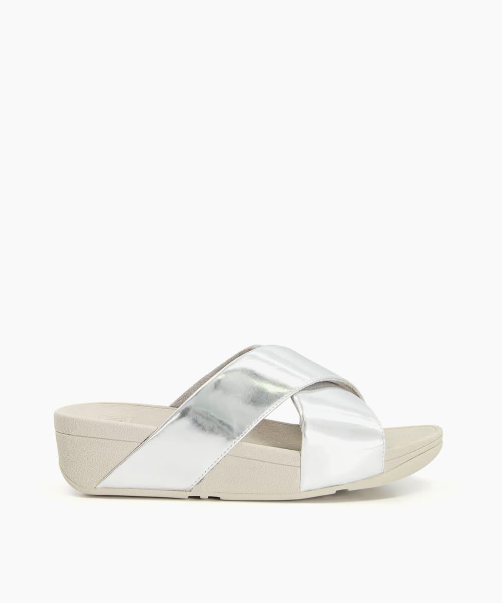 Cross Strap Slider Sandals