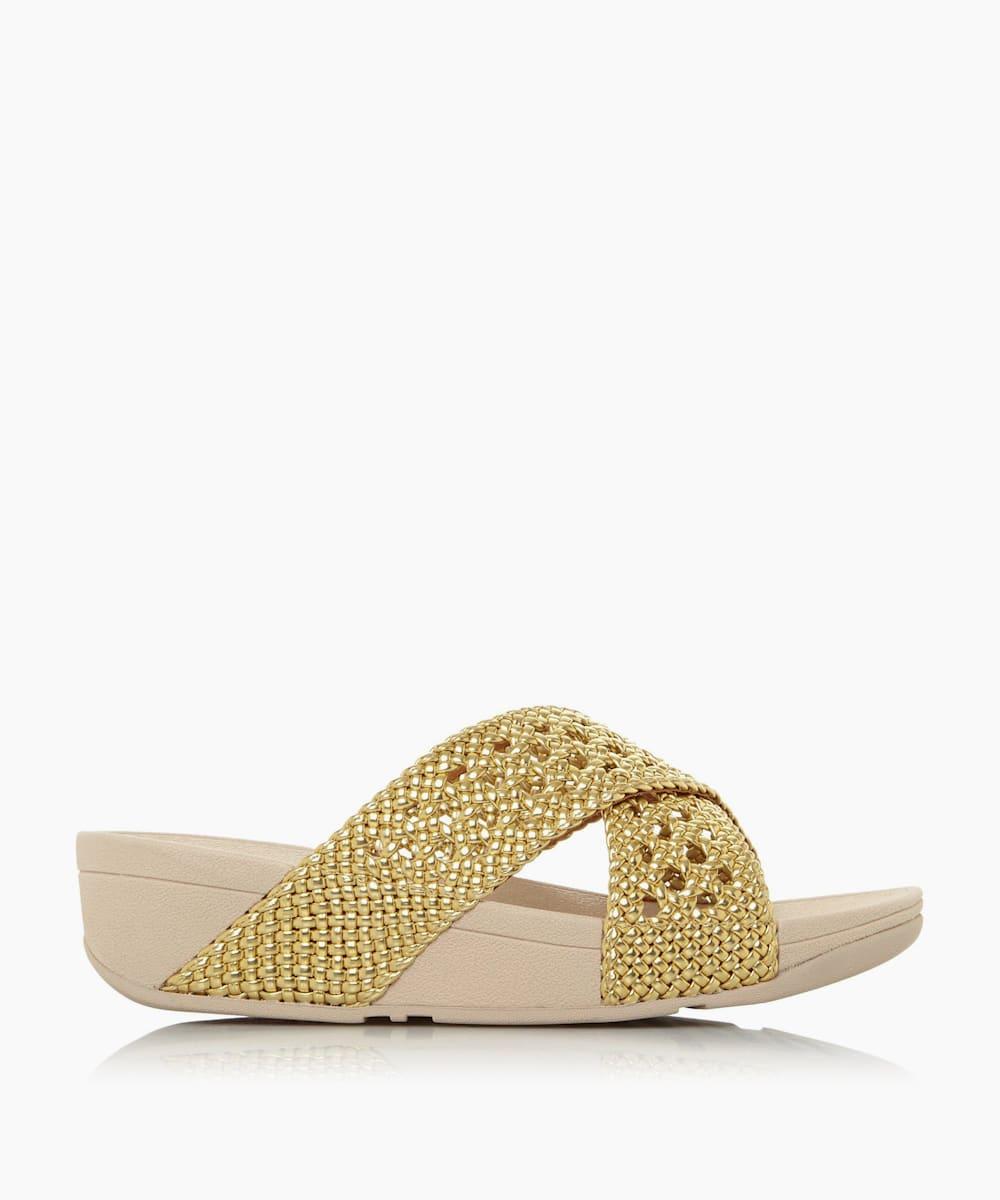 Wicker Wedge Sandals