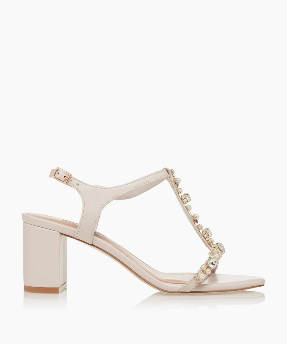 Bejewelled T-bar Sandals
