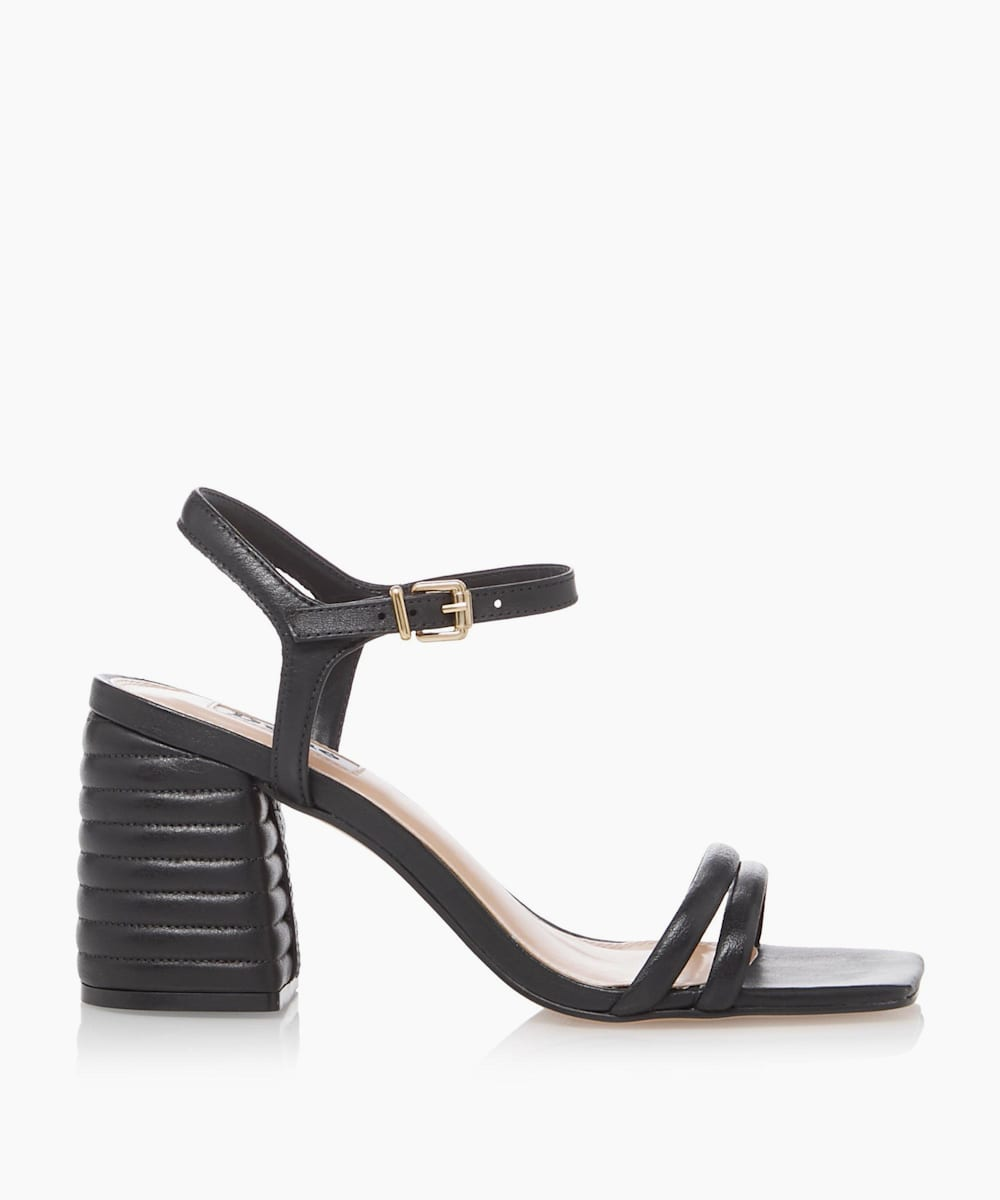 Padded Block Heel Sandals