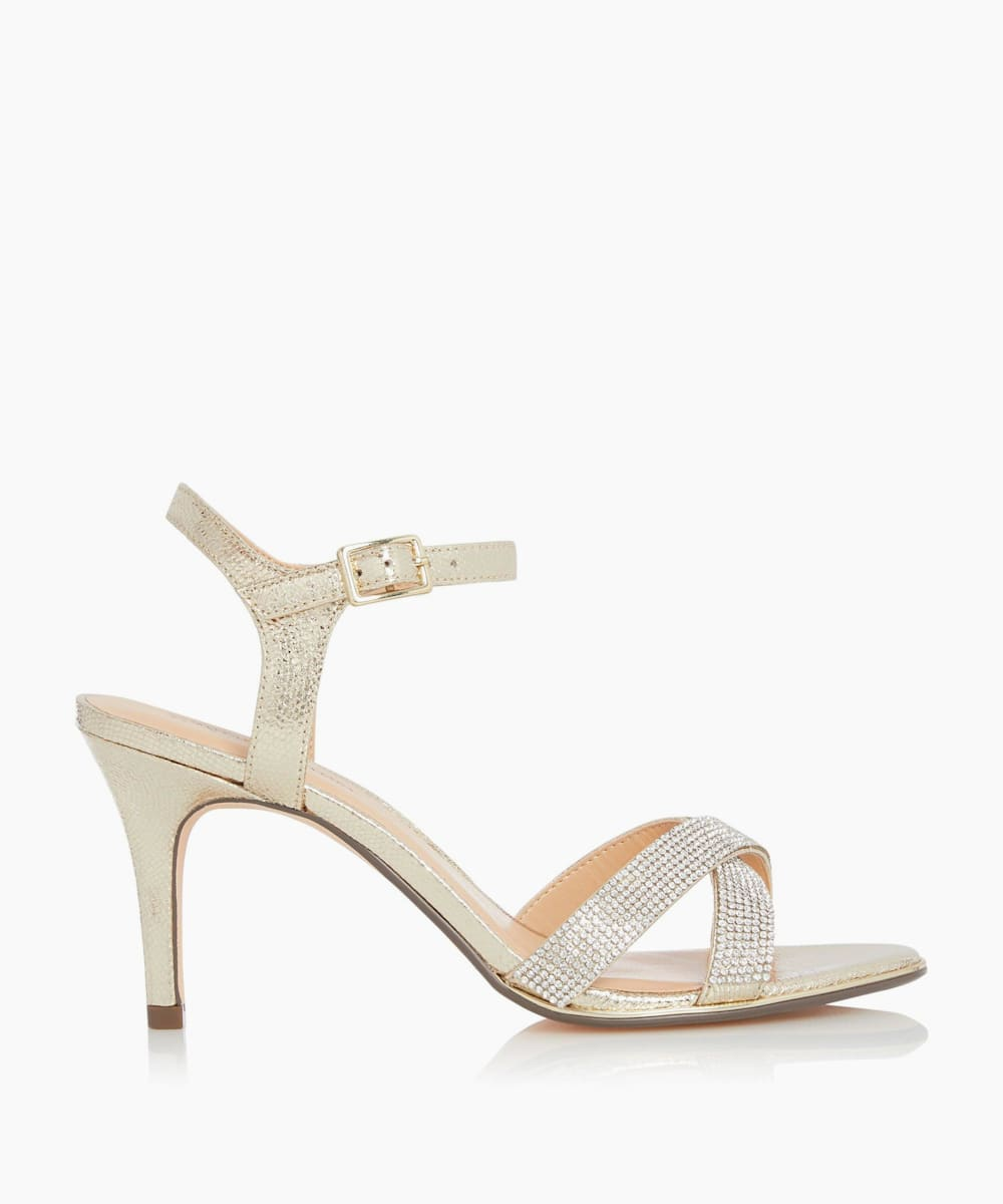 Diamante Strap Heeled Sandals