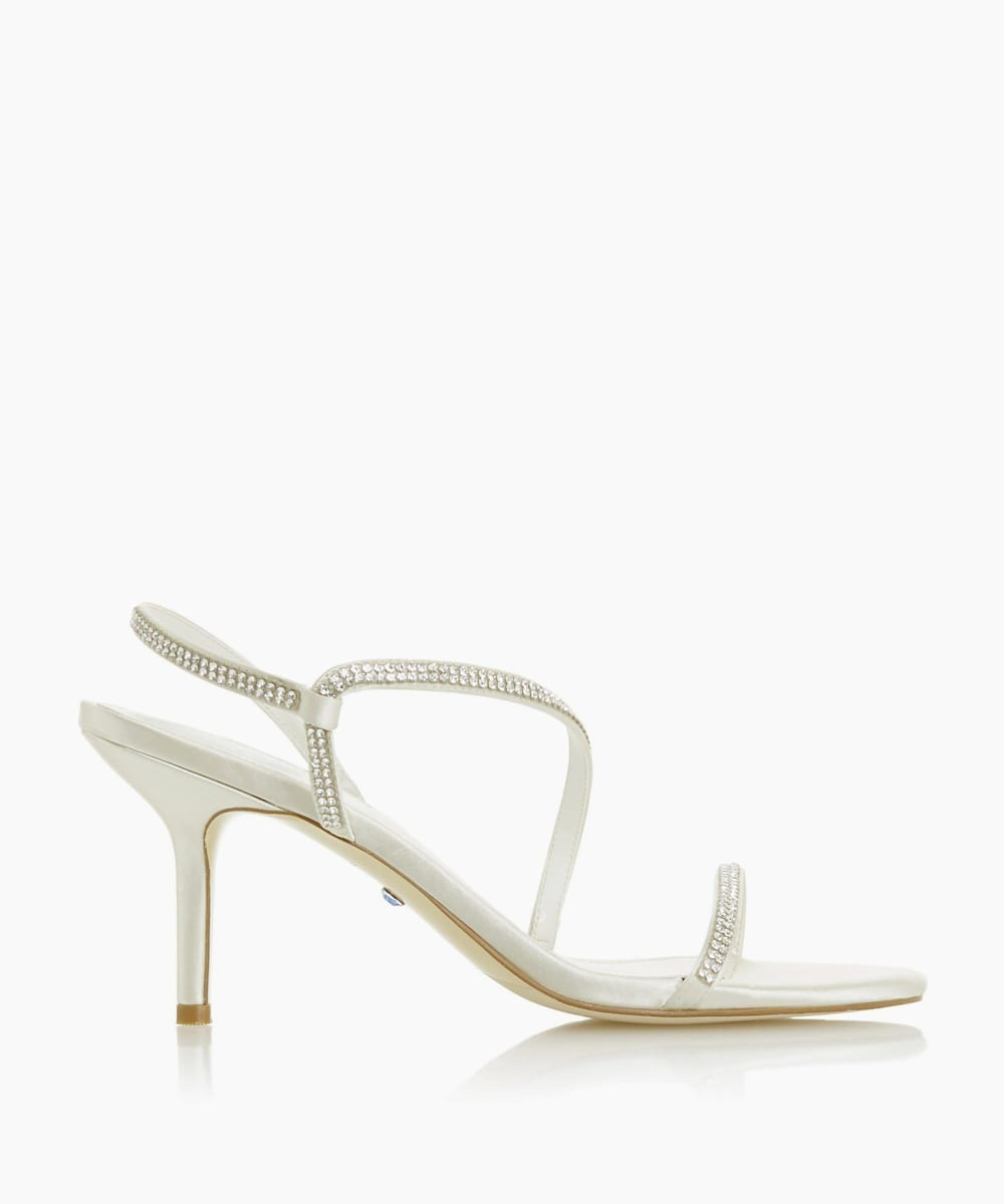 Crystal Barely There Heeled Wedding Shoes