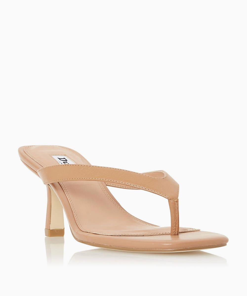Toe Post Heeled Sandals