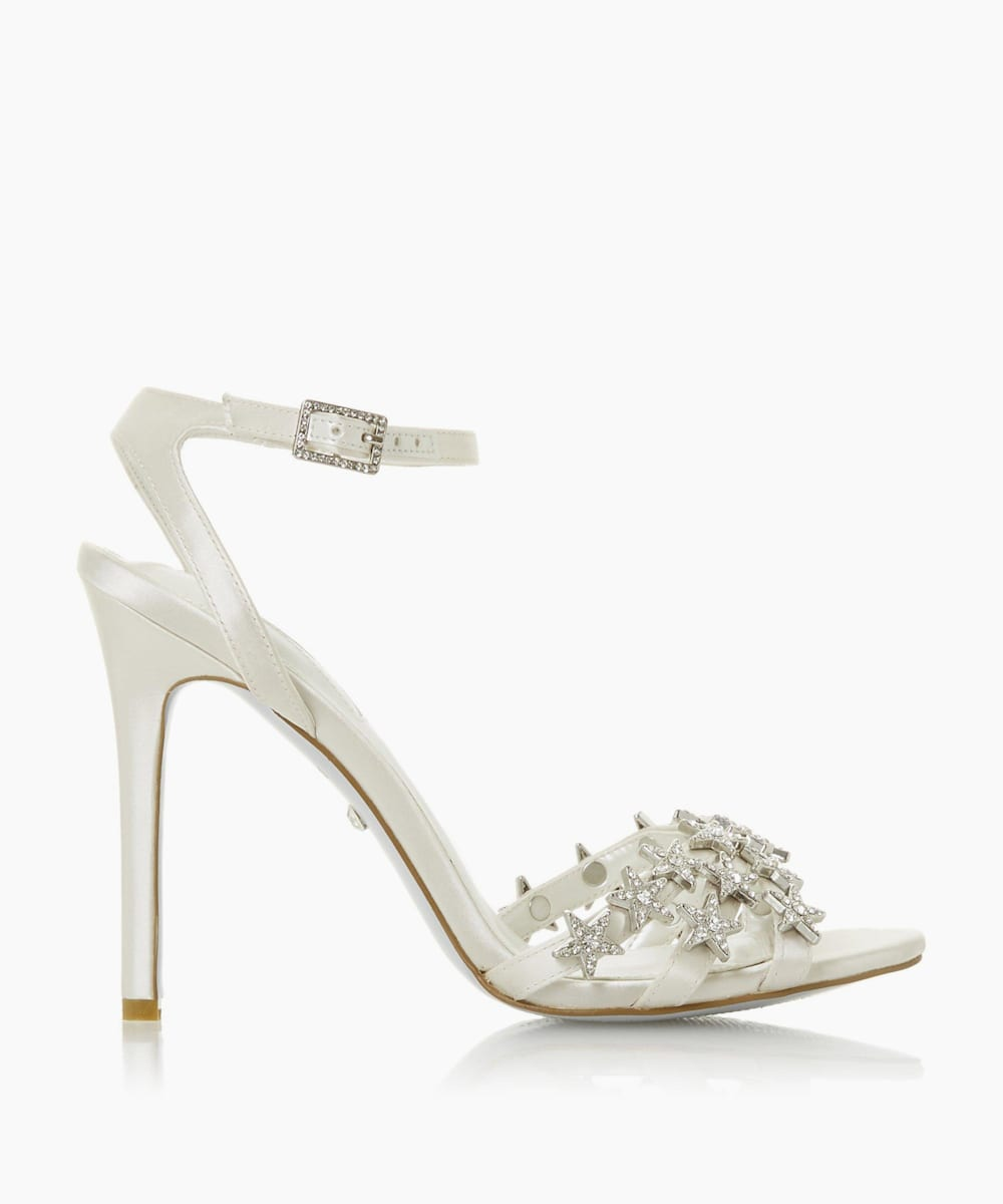 Star Embellished Heel Wedding Shoes