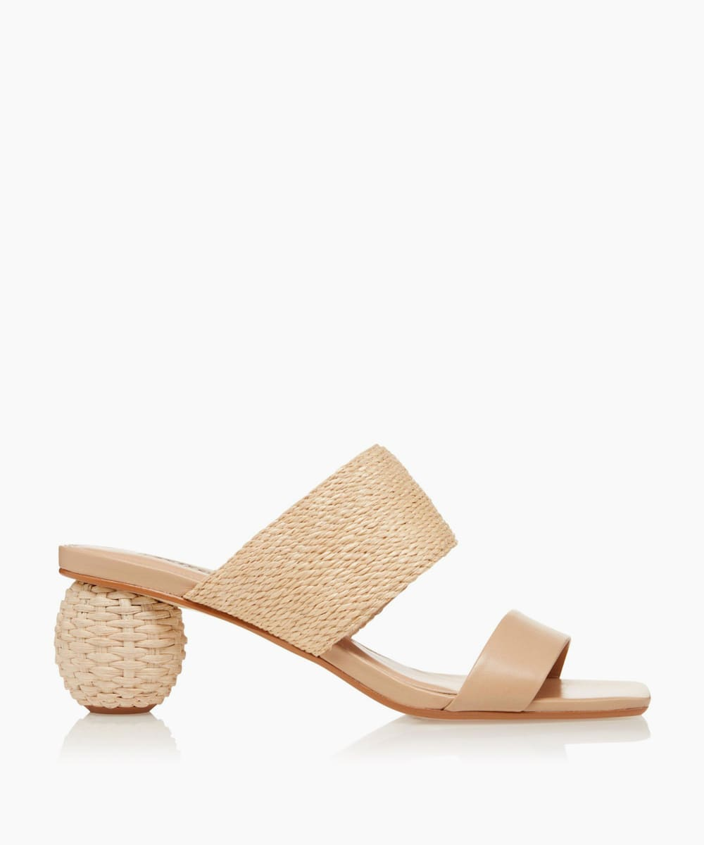 Natural Raffia Sandals