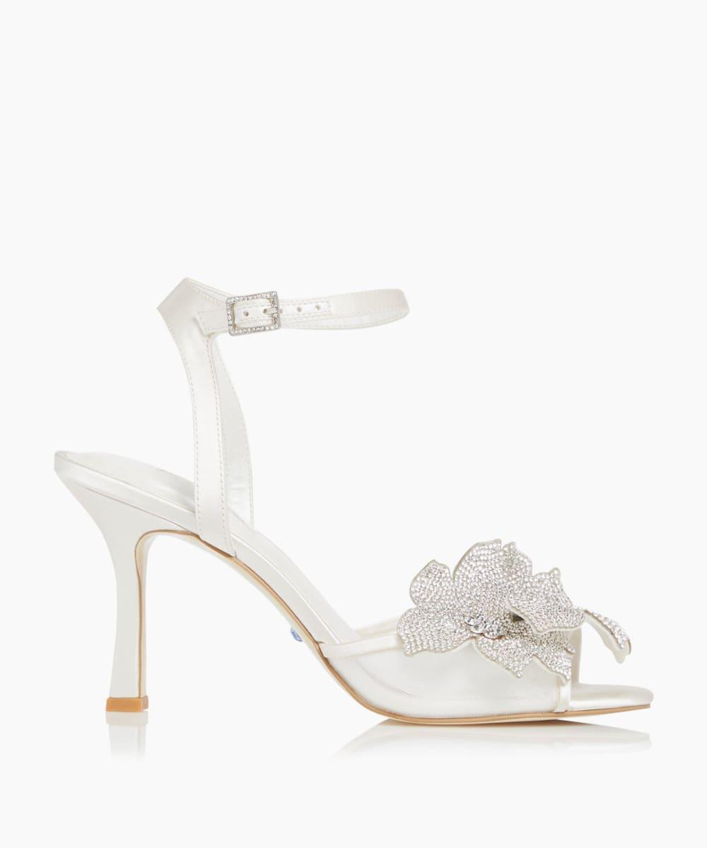 Floral Motif Wedding Sandals