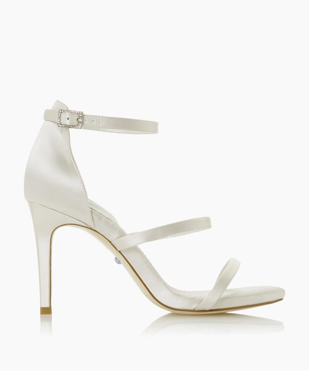 Triple Strap Heeled Wedding Shoes