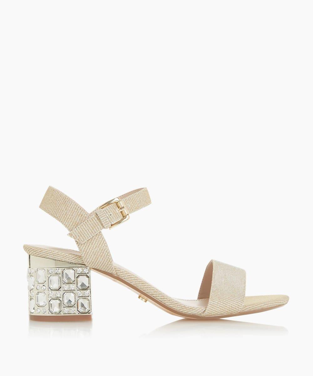 Jewelled Block Heel Sandals