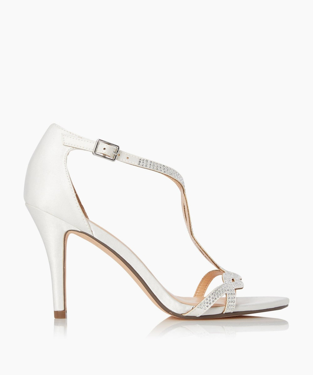 Diamante Twist T-Bar Sandals