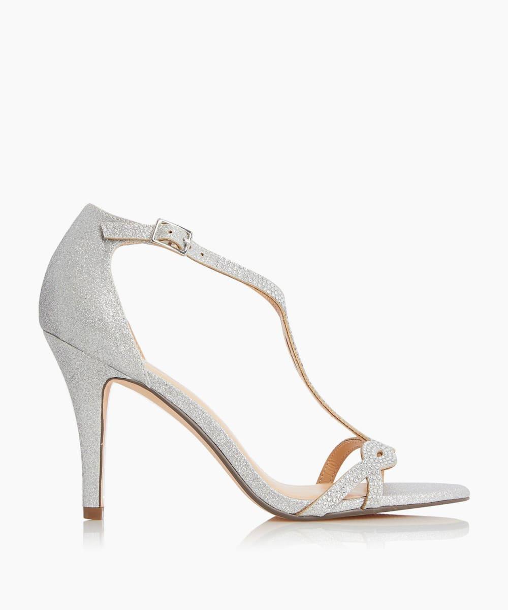 Diamante Twist T-Bar Sandals