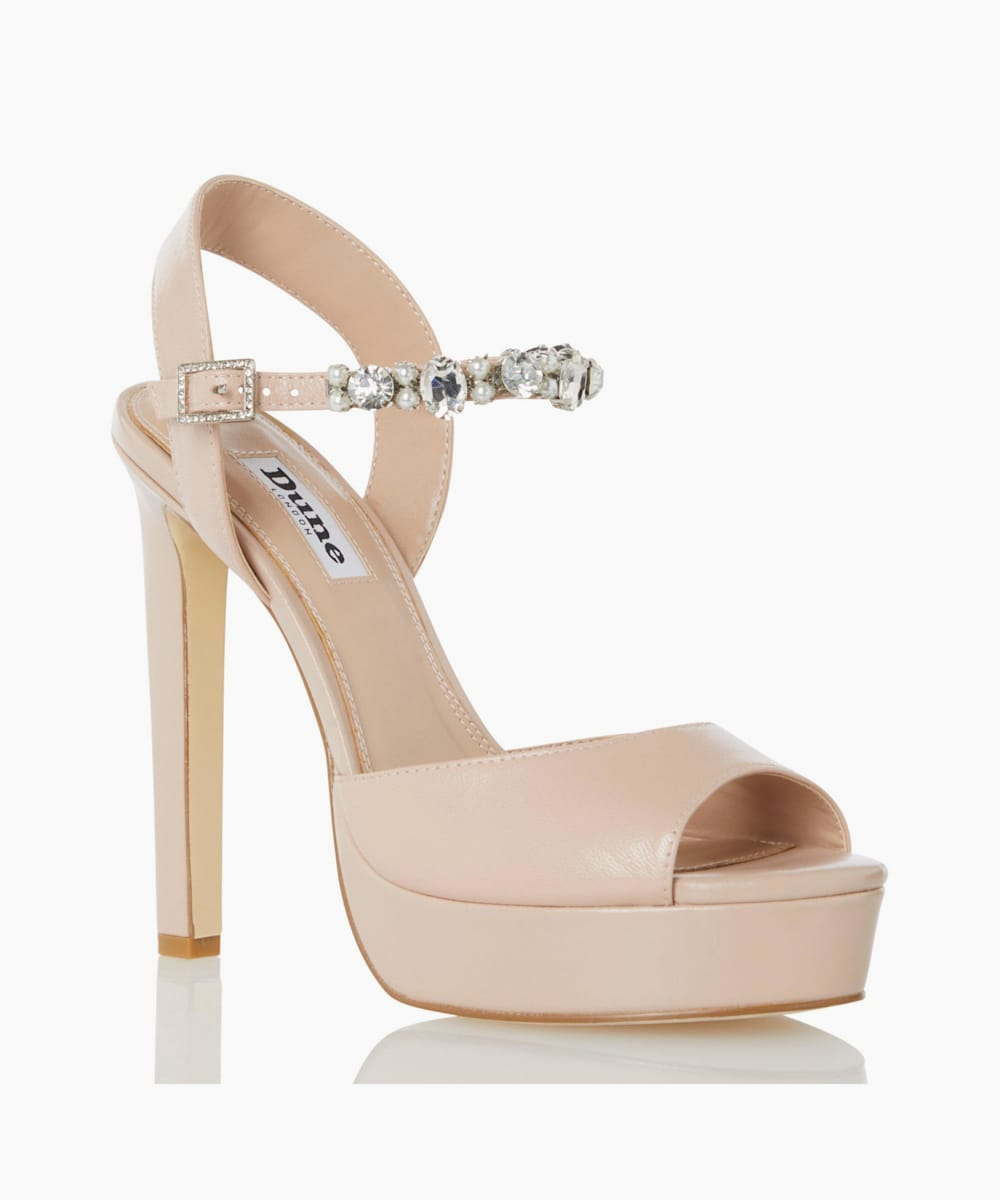 Embellished Strap High Heel Sandals