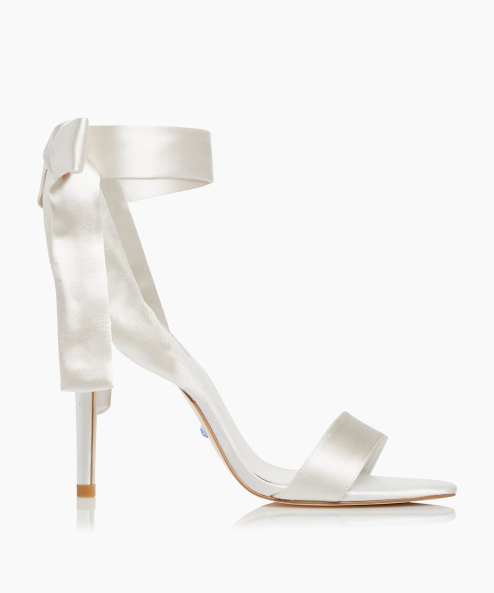 Satin Ribbon Tie Sandals