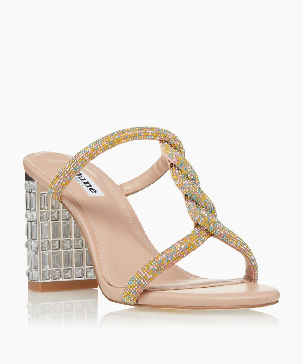 Embellished Heel Sandals