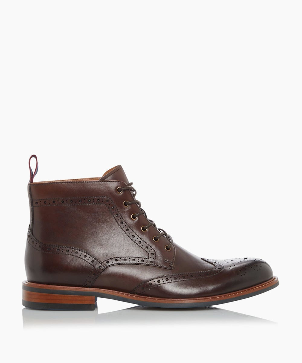 Smart Lace Up Brogue Boots