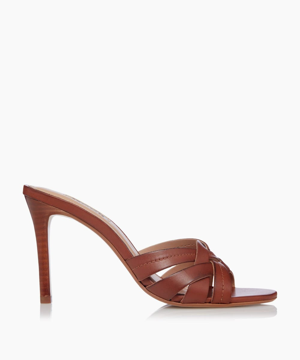 Woven Heeled Mule Sandals