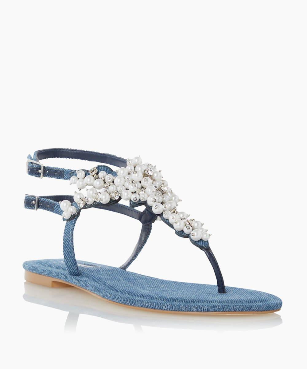 Embellished Toe Post Sandals