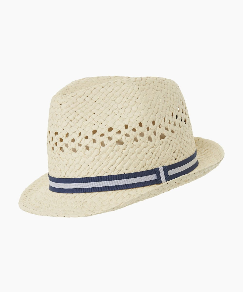 Tape Detail Trilby Hat