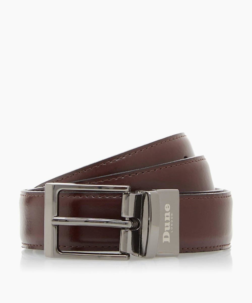 Stitch Detail Reversible Belt