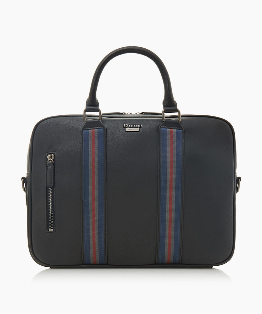 Stripe Webbing Briefcase