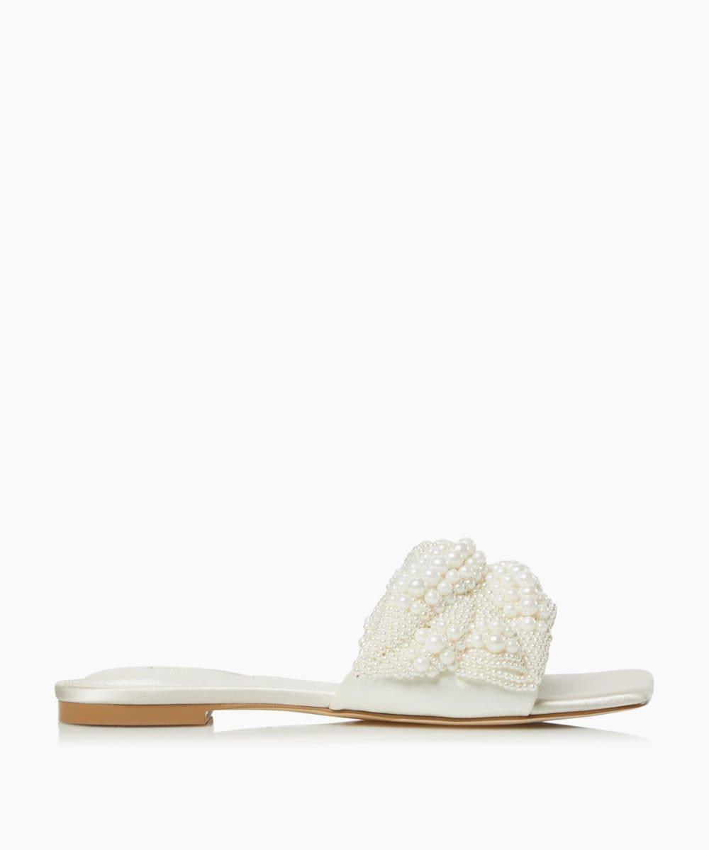 Square Toe Pearl Sliders