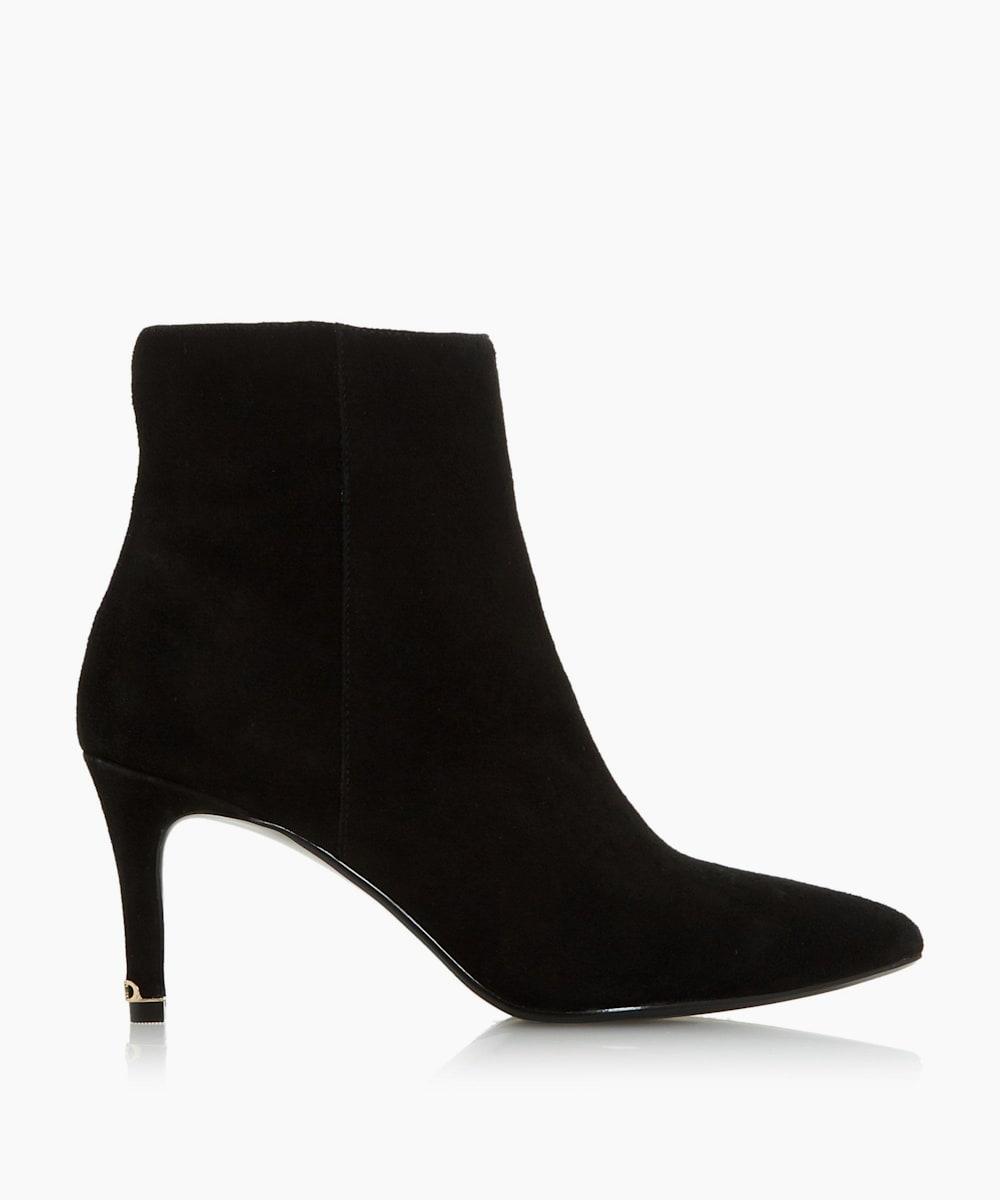 Kitten Heel Pointed Toe Ankle Boots