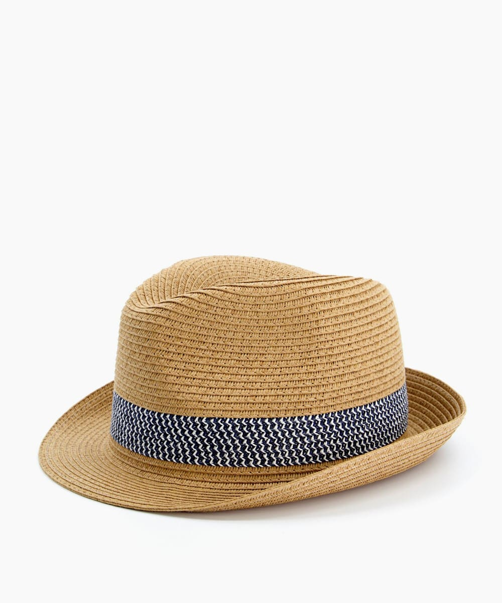 Natural Straw Trilby Hat