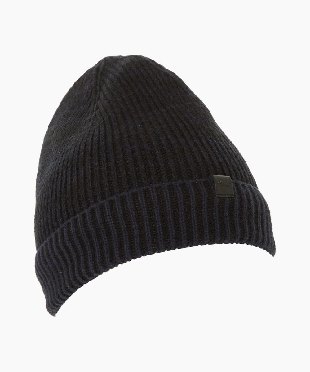 Ribbed Knit Beanie Hat