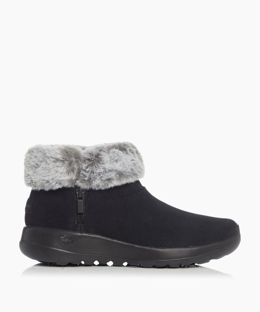 Fur Collar Ankle Boots