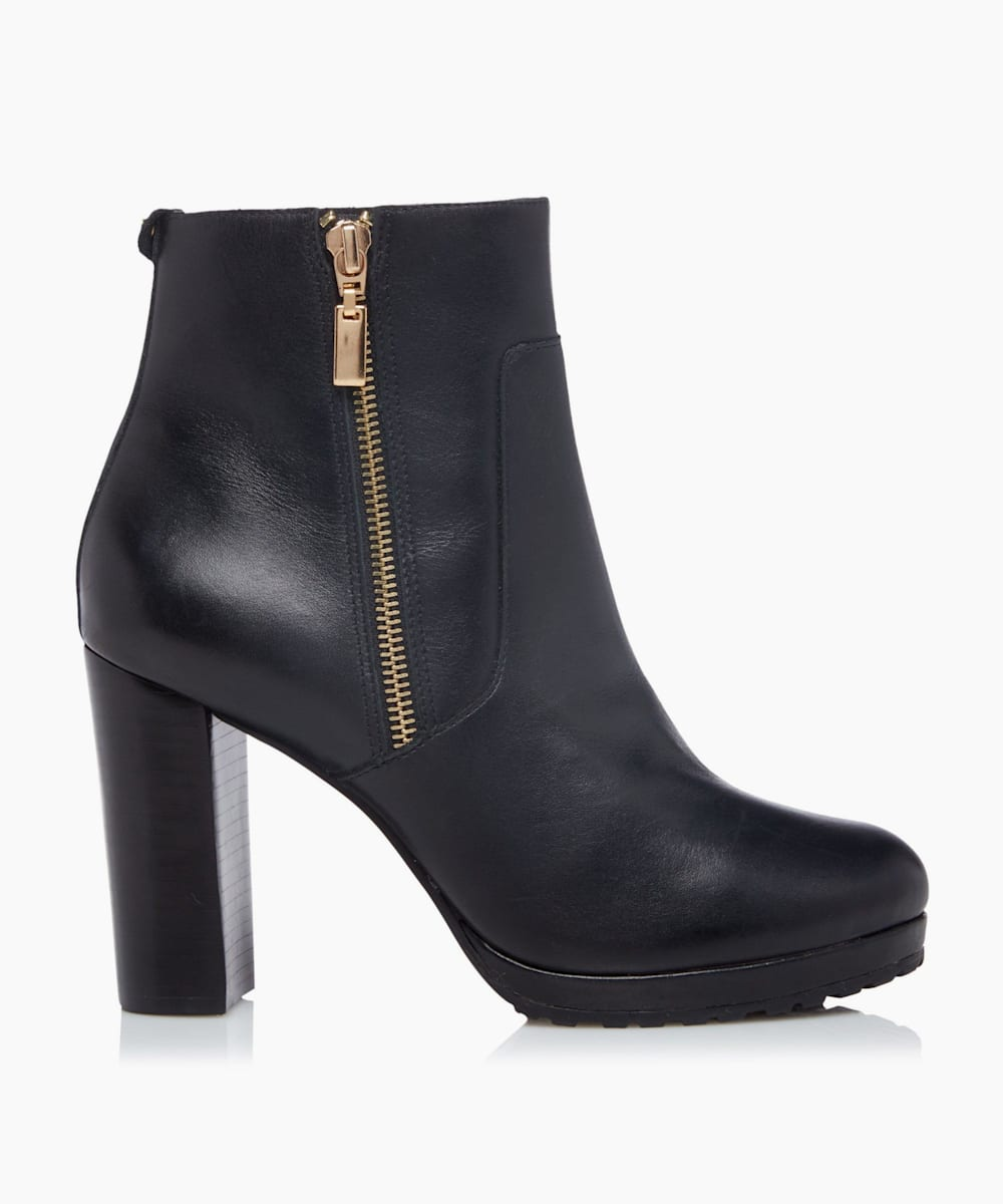 Side Zip Platform Ankle Boots