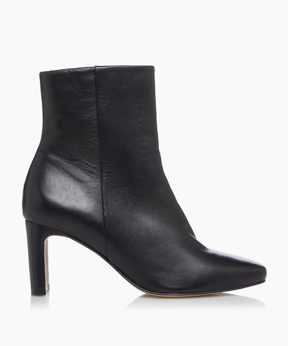 Refined Square Toe Ankle Boots