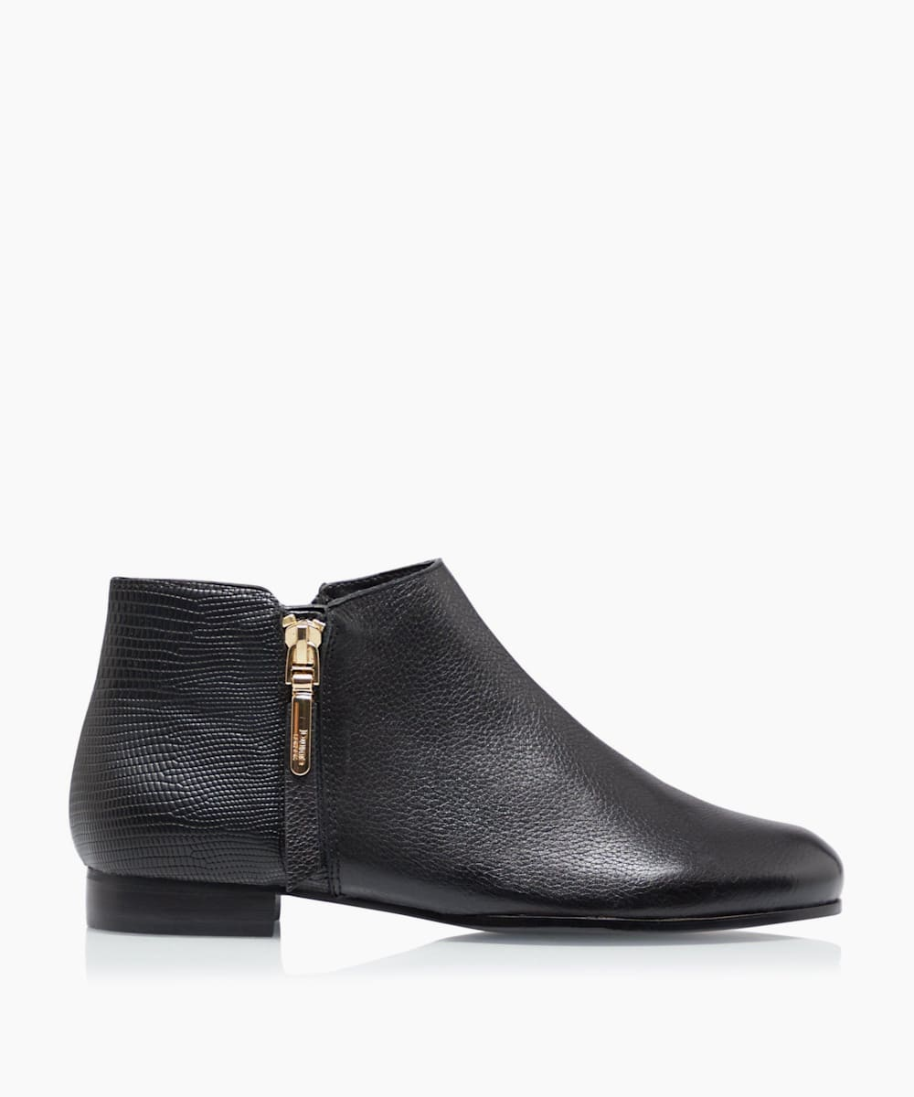 Side Zip Cropped Ankle Boots